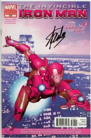 Invincible Iron Man #526 Komen Variant Signed Stan Lee Marvel comic book